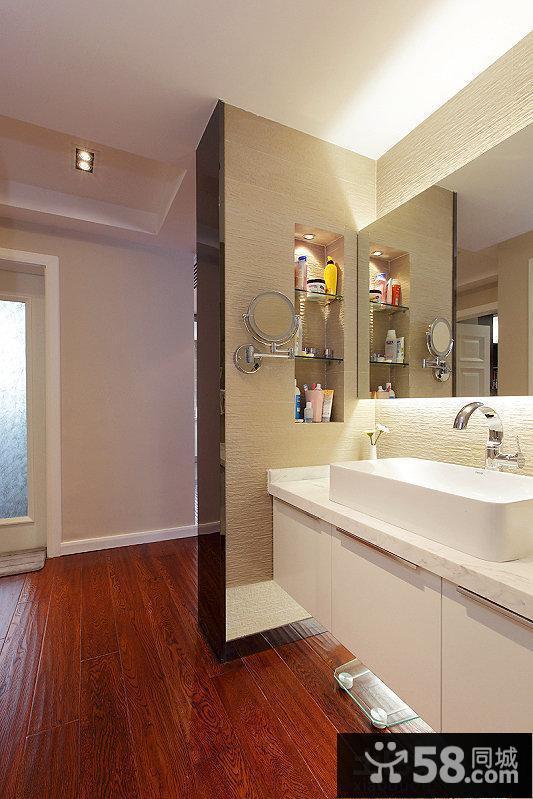 简约洗手间干区装修效果图