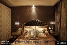 欧式卧室床头壁纸背景墙图片
