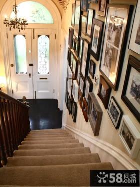 家庭装修室内楼梯间相片墙效果图