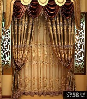 欧式别墅窗帘装修效果
