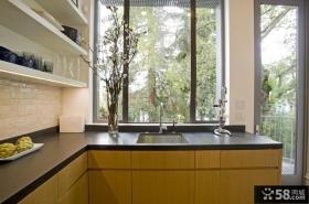 简欧风格厨房装修效果图大全2012图片