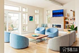 北欧简约风格客厅装修图大全