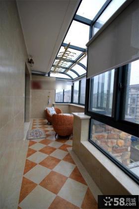 现代封闭大阳台设计