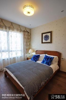 新中式小卧室壁纸装修效果图