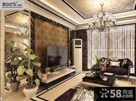 客厅壁纸电视背景墙装修效果图欣赏