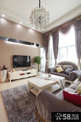 欧式豪华室内客厅电视背景墙效果图欣赏
