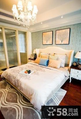 精美美式混搭卧室布置