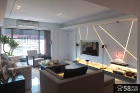 现代日式风格客厅电视背景墙效果图大全