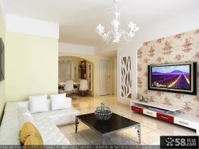 田园风格电视背景墙装修效果图大全2012图片