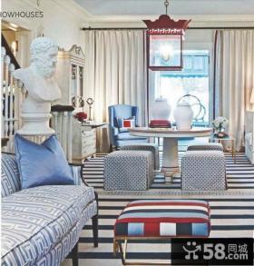 小户型地中海风格客厅装修图片