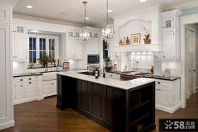 欧式开放式整体厨房装修效果图