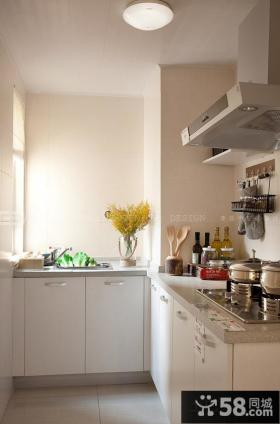 简欧L型小厨房效果图欣赏