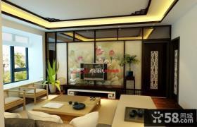 中式客厅电视背景墙装修效果图大全2013图片