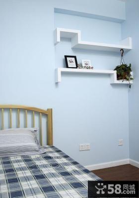 卧室简易搁物架图片