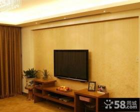 简单中式电视背景墙装修效果图