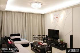 现代风格客厅电视机背景墙效果图片大全
