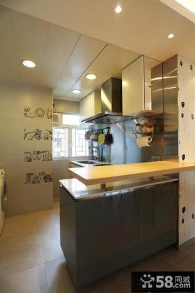 半开放式厨房吧台隔断装修设计