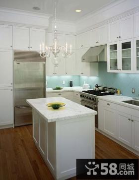 情迷地中海复式厨房橱柜装修效果图大全2014图片