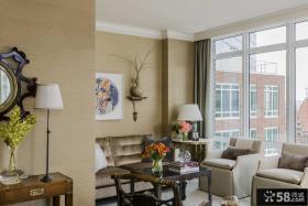 美式风格公寓客厅装修图