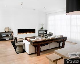 家庭客厅简单装修效果图