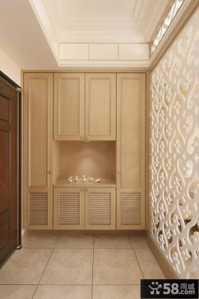 新中式风格装修玄关设计效果图