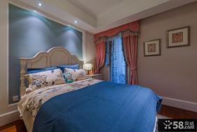 地中海设计温馨卧室窗帘大全