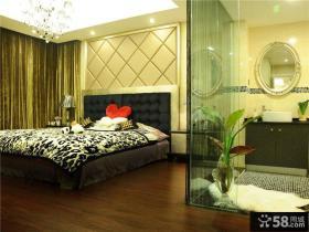 简约小户型主卧室床头背景墙效果图