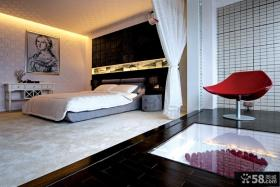 现代复式楼主卧室装修效果图片