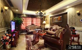 欧式复古风格设计别墅室内装修效果图