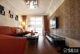 现代小客厅电视背景墙设计图片