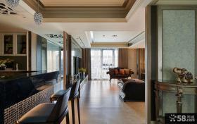 现代简约装修风格两室一厅一卫户型设计效果图