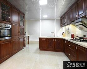 美式实木厨房橱柜图