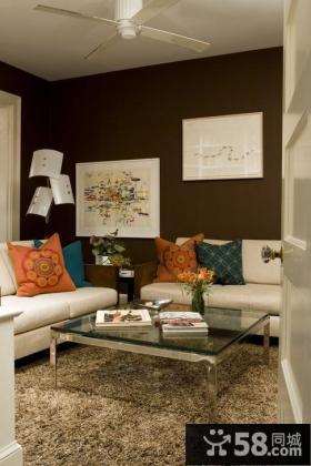 两房一厅装修图片 客厅沙发背景墙装修效果图