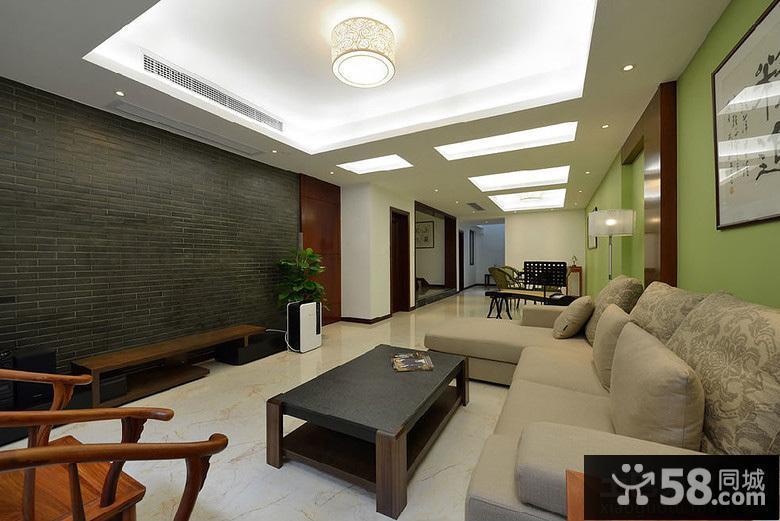 中式家居無窗戶客廳裝修