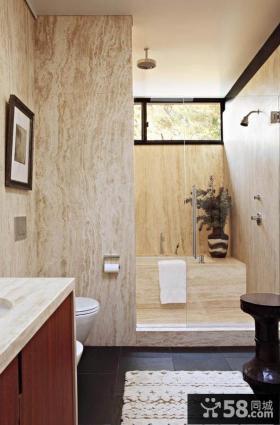 最新简约风格别墅家庭厕所装修效果图