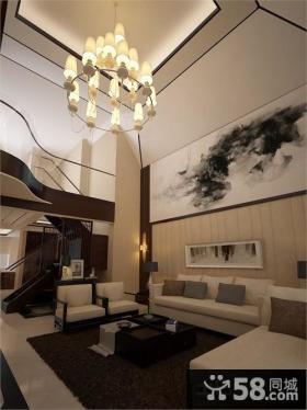 现代中式风格别墅客厅图片