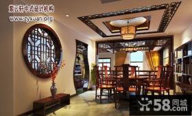 中式别墅一层餐厅装修效果图