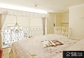 简欧复式家装卧室效果图片