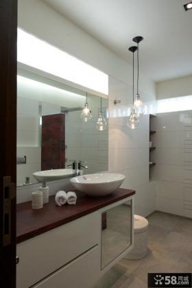 简约复式家居卫生间设计效果图片