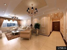 欧式三居客厅装修效果图