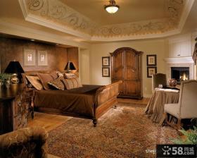 欧式奢华别墅卧室吊顶设计
