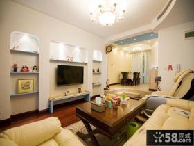时尚风格客厅电视背景墙设计图片