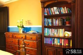 美式田园风格书柜装修效果图