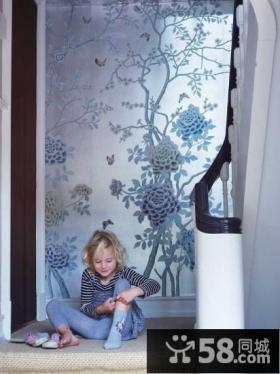 楼梯过道墙体彩绘装饰效果图