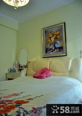 简约风格卧室床头背景墙效果图欣赏大全