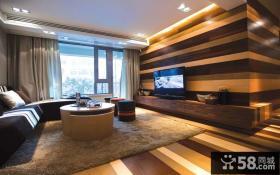 后现代风格二居室客厅电视背景墙装修效果图