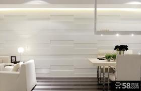 白色风格客厅餐厅背景墙设计
