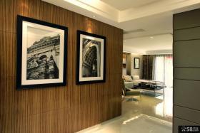 现代玄关过道木饰面板装饰画图片