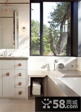 卫生间一幕 自然素雅的装修风格