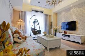 宜家田园装修风格小户型客厅设计效果图大全